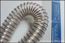 PU钢丝伸缩管,透明钢丝管,耐磨吸尘钢丝管