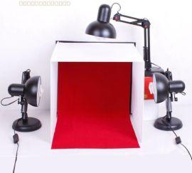 凯丽美 40cm迷你简易摄影棚套装 摄影灯箱 便携万向折叠灯具