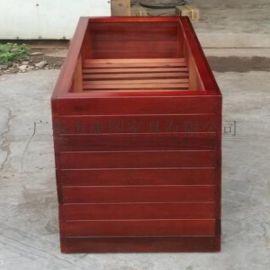 户外木制家具 园林花箱实木花箱图片