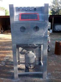 箱式喷砂机生产厂家电话,9060喷砂机多少钱,安兴除锈打砂机,小型手动高压喷砂机