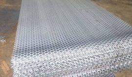 山东临沂厂家直销 钢板网 红色拉伸 网 菱形冲孔网 镀锌板网