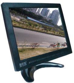 加尼鹰8001-1 8寸TFT-LED监控显示器 工业监视器 液晶高清屏 家用电脑机顶盒DVD连接 VGA/BNC/RCA 视频音频 带喇叭 塑胶壳 4:3显示