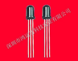 深圳厂家生产ф5MM圆头1.27脚距红外线圆柱型遥控接收头HYD0038Q