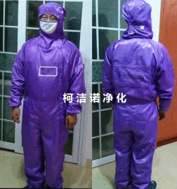 防静电紫色无尘服 防静电紫色连体服 百级无尘服 柯洁诺净化现货供应 深圳