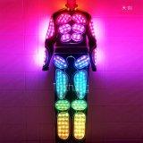天創發光機器人演出舞臺表演服飾 夜場服舞臺服裝發光led衣服廠家直銷