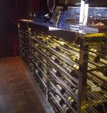 酒莊玫瑰金不鏽鋼酒櫃定製 恆溫恆溼酒窖 酒架定做