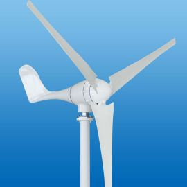 雄安新区200W/400w家用小型水平轴风力发电機风光互补路灯监控用