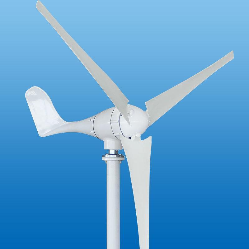 雄安新區200W/400w家用小型水準軸風力發電機風光互補路燈監控用