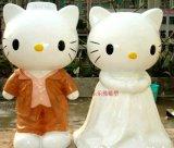 厂家供应 定做hello kitty猫卡通猫玻璃钢雕塑公仔玩偶门口迎宾 公仔玩偶门口迎宾