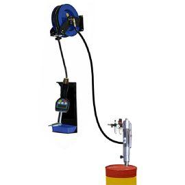 供应壁挂式预设定量注油器 含自动伸缩卷盘防滴漏数显加油枪
