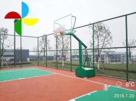 湖南信息学院学校操场篮球架批发  仿CBA篮球架规格尺寸