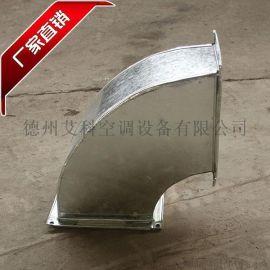 镀锌板共板法兰方形风管弯头白铁皮通风管90度弯头厂家定制