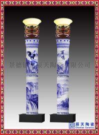 青花瓷l路灯柱子 城市广场景观灯柱订做厂家