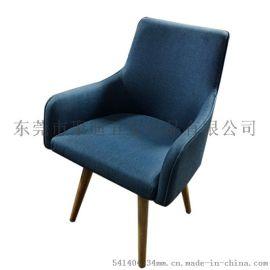 北欧单人沙发椅可旋转实木电脑椅子家用