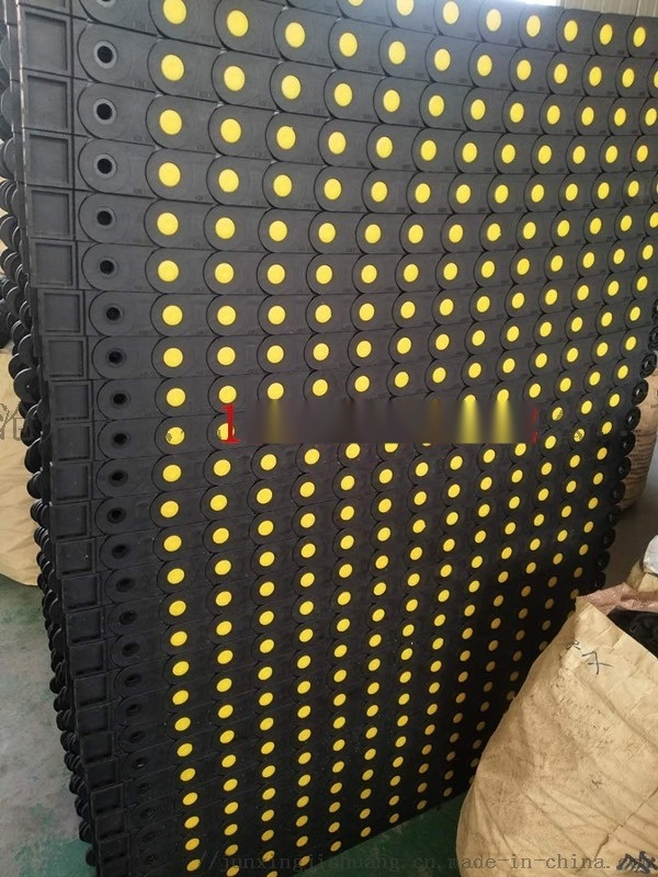 桥架式塑料拖链 全封闭式尼龙拖链 线缆保护坦克链