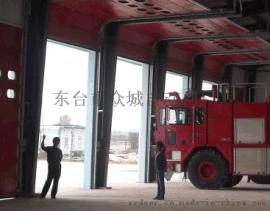 武汉消防车库门,消防滑升门,配联动,带报警