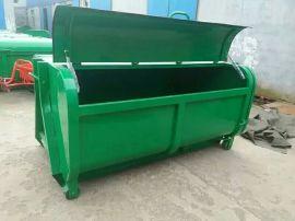 钩臂垃圾车配套垃圾箱定制厂家 3立方--6立方大型垃圾箱