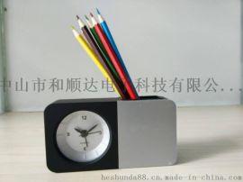 座钟 笔筒闹钟 石英钟笔筒 学生促销用品 电子礼品钟 学生笔筒钟