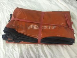 耐酸碱围裙护袖橘色 厚耐酸碱围裙