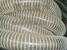 供应重庆TPU钢丝螺旋伸缩软管江西通风吸尘软管