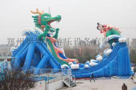 四川德阳支架游泳池丛林探险充气水滑梯