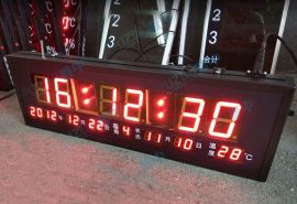 数码万年历温度时间数码显示屏正计时倒计时LED电子看板