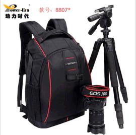 动力时代相机包户外摄影包运动双肩单反相机包三脚架包可一件代发