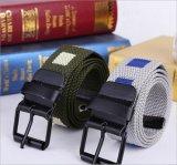 帆布腰带男丙纶纱男士针扣皮带学生休闲皮带编织帆布带现货