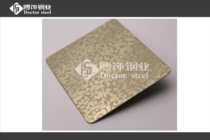 佛山生产304钛金镜面不锈钢蚀刻多边花,彩色不锈钢蚀刻花纹板