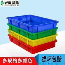 厂家直销全新PE料塑料方盘周转包装各种规格现货供应环保耐用