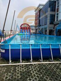 山東淄博充氣游泳池【支架游泳池】老廠製造