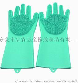 硅胶洗碗手套 抖音网红爆款硅胶隔热手套