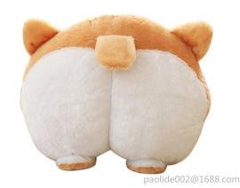 新款创意玩具柯基**毛绒抱枕 儿童女生生日礼物定制