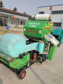 玉米秸秆打捆包膜机,玉米秸秆青储包装机械