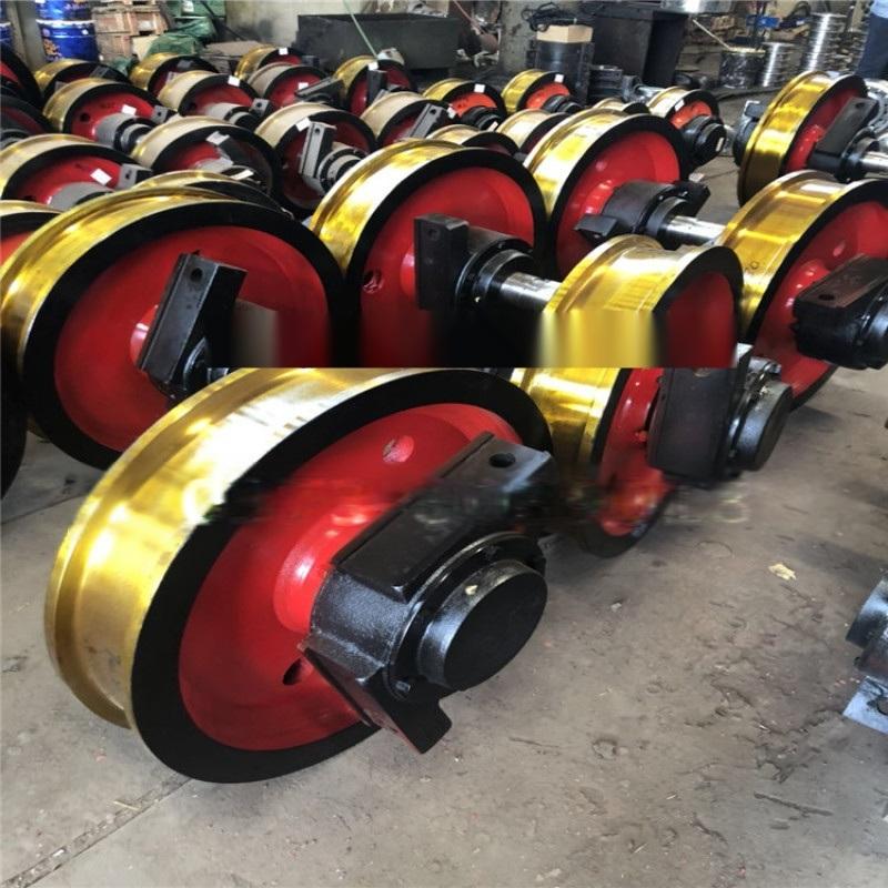供应直径700双边车轮组 直销起重机车轮组铸钢车轮