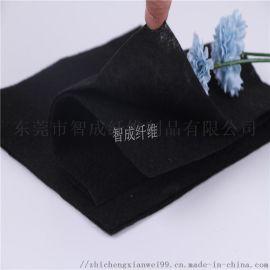 广东供应黑色烫面压光酷布 耐高温阻燃针刺无纺布