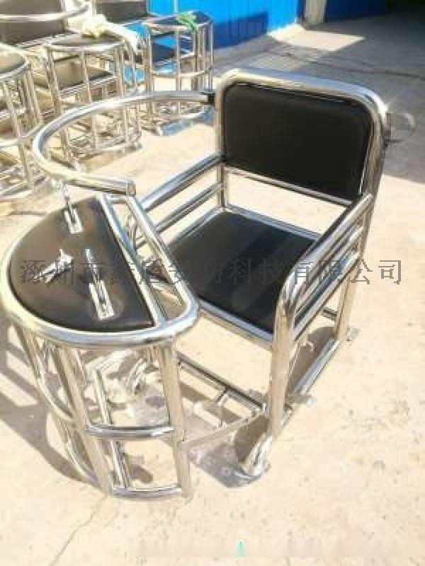 圆管型审讯椅 方管不锈钢审讯桌椅