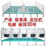 母猪定位栏猪用限位栏10猪位加厚带食槽国标养猪设备