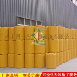 现货注水注沙吹塑防撞桶 可灌沙灌水 高速道路隔离防撞分流桶厂家