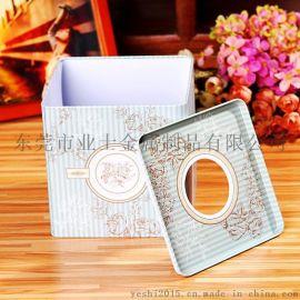 深圳福田罗湖酒店超市  一级马口铁纸巾盒(铁罐)