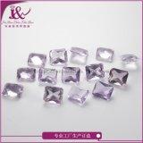 寶石工藝品天然紫水晶裸石長方倒角10*12mm可定制首飾加工鑲嵌