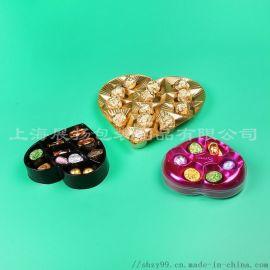 定制食品级多格PET/PP心形巧克力内泡罩托盘