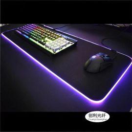 厂家供超亮乳白2.5mm鼠标垫光纤通体MMA软光纤幻彩RGB侧面发光线