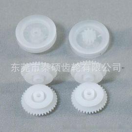 【厂家定制】非标皮带轮 塑料滚轮 打卡机传动塑胶齿轮