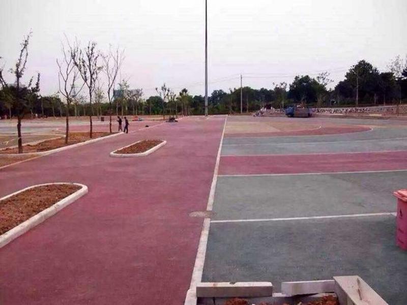 太原透水地坪彩色混凝土专用着色剂等材料艺术地坪桓石直销