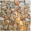 厂家销售黄木纹板岩乱形 乱片 页岩石 页岩石材 页岩片石
