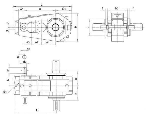 QY3S280起重机用齿轮减速器