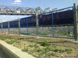 CA-q235圈地桃型立柱高速公路铁路机场小区体育场车间监狱、隔离网隔离栅围栏网护栏网防护网铁丝网