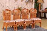 藤家具新古典雕花藤木餐椅靠背椅子藤编桌椅咖啡酒店会所椅实木