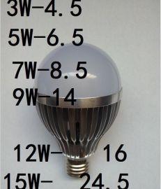 厂家直销 大功率LED球泡车铝球泡3W